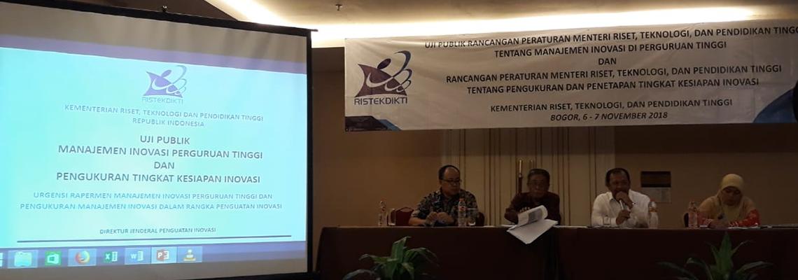 Uji Publik Manajemen Inovasi Perguruan Tinggi, Bogor, 2018